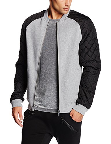 Urban Classics Herren Jacke Diamond Nylon Sweatjacket, Mehrfarbig (Gry/blk 119), Medium