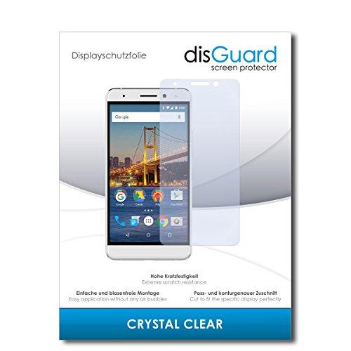 disGuard® Displayschutzfolie [Crystal Clear] kompatibel mit General Mobile GM 5 Plus [2 Stück] Kristallklar, Transparent, Unsichtbar, Extrem Kratzfest, Anti-Fingerabdruck - Schutzfolie