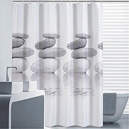 Doré Being Rideau de douche Gris Pebble, moisissures résistant à la et imperméable rideau de douche Shower Curtain avec 12Anneaux, 120*180cm