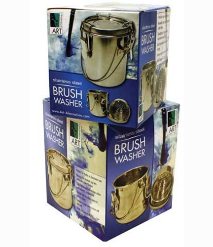 Pinselwascher - Rostfreier Edelstahl - Haelt ca. 235 ml - Luftdicht verschliessend