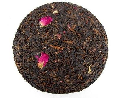 Fleur rose mélangée au gâteau au thé Pu erh 600 grammes