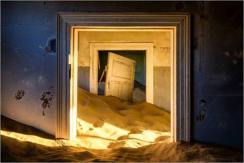 Posterlounge Acrylglasbild 180 x 120 cm: ehemalige Diamantenstadt, Heute Geisterstadt von Karen Deakin/Robert Harding - Wandbild, Acryl Glasbild, Druck auf Acryl Glas Bild