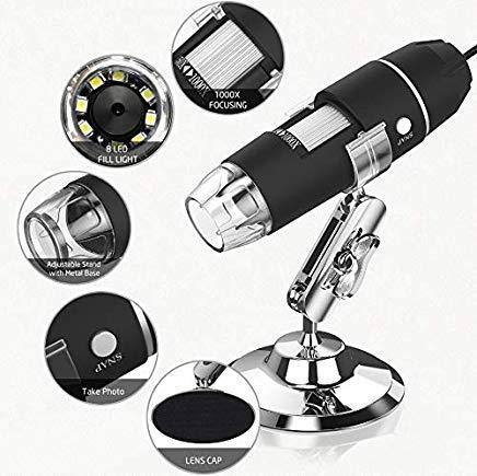 Microscopio USB, Splaks 1000x Alta Potencia USB Microscopio