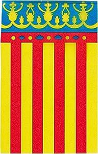 Verbetena - Bandera plástico Valencia 20x30 cm, bolsa 5x10 metros (011200068)
