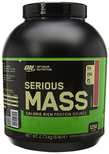Optimum Nutrition Serious Mass Weight Gain Powder, 2.73 kg - Strawberry