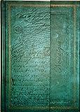 Notizbuch / Tagebuch: Edle Schriften, türkis-grün, blanko, A5, mit Magnetverschluss, Hardcover