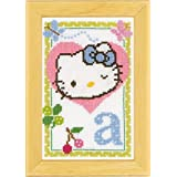 Vervaco - Kit para cuadro de punto de cruz, diseño de Hello Kitty con la letra A, multicolor