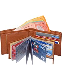 Accezory Men Tan Artificial Leather Wallet(9 Card Slots)