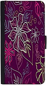 Snoogg Seamless Aloha Pattern Graphic Snap On Hard Back Leather + Pc Flip Cov...