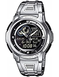 Casio Collection – Herren-Armbanduhr mit Analog/Digital-Display und Edelstahlarmband – AQF-102WD-1BVEF