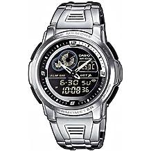 CASIO Collection AQF-102WD-1BVEF - Reloj de mujer de cuarzo, correa de acero inoxidable color varios colores (con cronómetro, alarma,