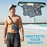 (2 Pack) Wasserdichte Tasche Beutel Handyhülle für Taille oder Schulter ideal zum Segeln, Wandern, Schwimmen, Angeln – sicherste Weg, Ihre Produkte trocken – 100% Garantie auf Lebenszeit - 7