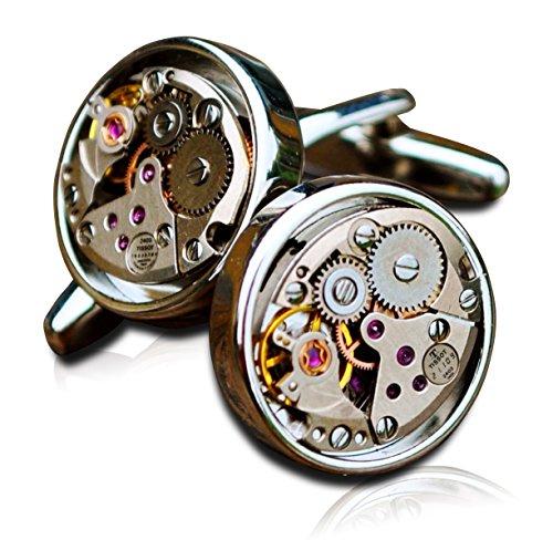 Tissot Uhrwerk Manschettenknöpfe Steampunk Herren Mechanik