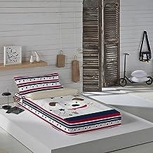 Euromoda Saco Nórdico sin Relleno LOVE DOG Multicolor Cama 90 (90 x 190/200 cm)