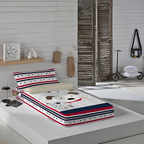 NATURALS Love Dog Parure de lit Prêt à Dormir sans Couette 90190/200cm