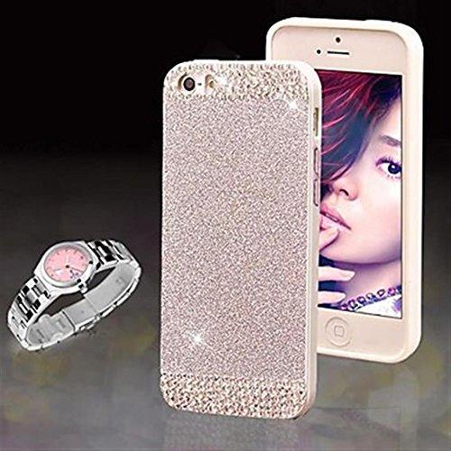 NightKid Magnifiques diamants clignotant coque (iPhone 5C iPhone 6S Plus iPhone 6S iPhone 6 Plus iPhone 6 iPhone 5/5S iPhone 4/4S )(iPhone 5C,Argent) Argent