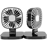 COMLIFE Ventilador de Coche de USB Giratorio de 360 Grados 4 Pulgadas con 3 Velocidades Silencioso