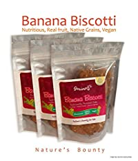 Grainny's Organic Whole-Grain Vegan Banana Cake Biscotti (Pack Of 3) 450 gms