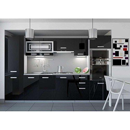 justhome-infinity-led-cuisine-equipee-complte-300-cm-couleur-noir-laque-haute-brillance