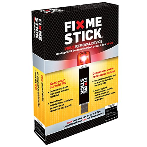 FixMeStick - Virus Removal Device - Unlimited Use on up to 3 PCs for 1 Year