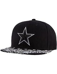 Wuke Sombrero Clásico Gorra de Beisbol Hombre con Estrella Bordado  Protectora de Sol Plano Negro 64ecb424179