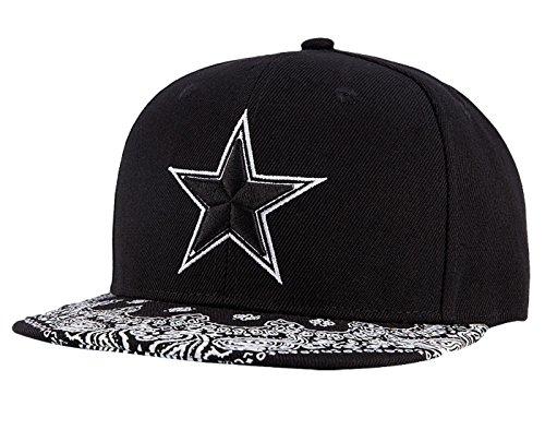 35cadf713358e Wuke Sombrero Clásico Gorra de Beisbol Hombre con Estrella Bordado  Protectora de Sol Plano Negro
