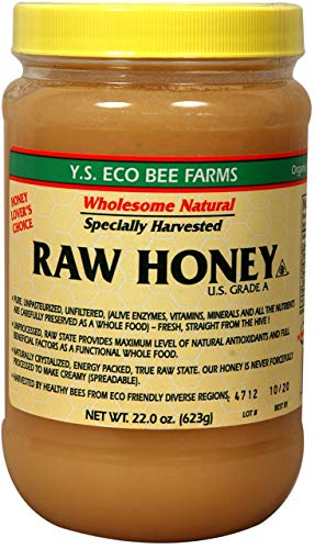 Y.S Eco Bee Farms Raw Honey USA Grade A.-22oz (623 gm)
