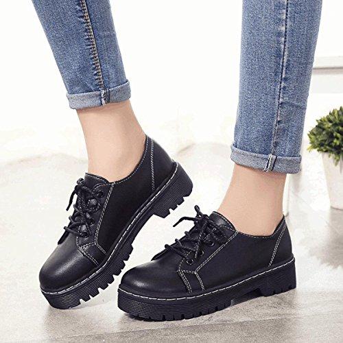 XTIAN , Chaussures à lacets femme Noir