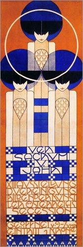 Poster 30 x 90 cm: Plakat von Koloman Moser - Hochwertiger Kunstdruck, Kunstposter