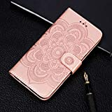 Zhangl Mobile Phone Leather Cases Mandala Embossing Pattern