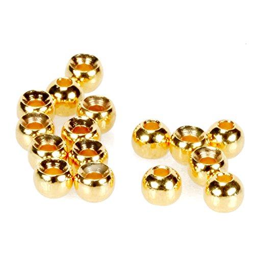 taimen Fliegenbinden Tungsten Perlen 3 mm Gold (10 pcs) (Tying Fly Wolfram Beads)