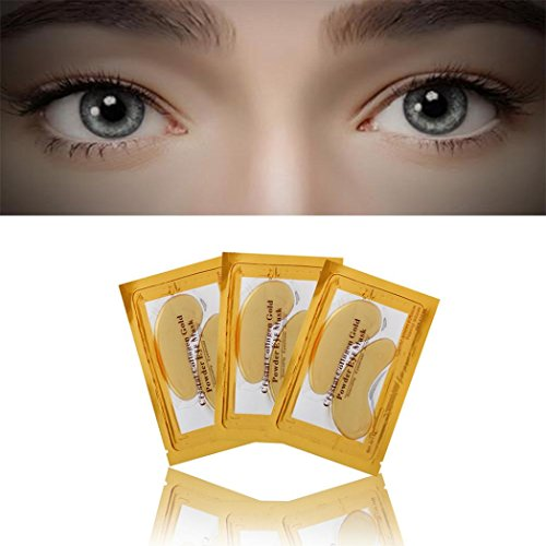 Masque oculaire,24k Gold Eye collagène vieillissement Ride under Crystal gel patch anti masque collagène vieillissement Ride Remover masque de cristal patchs gel Crystal gel patch,Ride de collagène d'oeil by LHWY