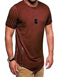 MT Styles Oversize style ziper T-Shirt homme C-9062