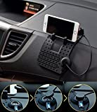 #2: JOGGER® Car Holder Soft Silicone Magnetic Socket Extra Flexible Super Tough GPS Navigation Phone Holder with Charging USB Cable Compatible WIth All Android Smartphone & All Apple Iphone Models-Black