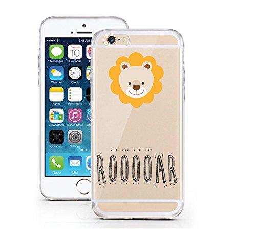 "licaso® iPhone 6 6S 4,7"" TPU Tierchen Panda Hülle Sketch Unicorn Case transparent klare Schutzhülle Disney Hülle iphone6 Tasche Cover (iPhone 6 6S 4,7"", Tierchen Panda) Tierchen Löwe"