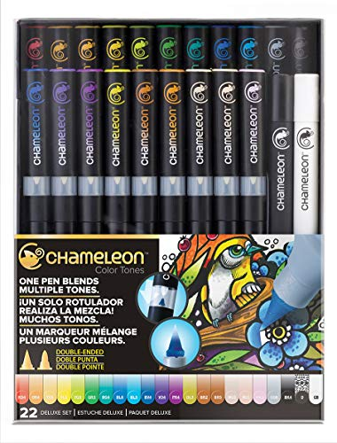 Chameleon Art Products - 22 deluxe rotuladores de alcohol permanentes