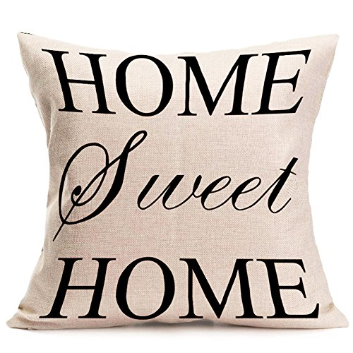 Ruikey Fashion Pillow case creative Linen Home Sweet Home cuscino divano letto Home decorazione 45*45 cm