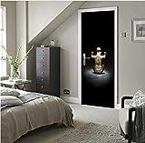 lili-nice Décoration de la Maison bébé Auto-adhésif 3D Porte Autocollant Ours...