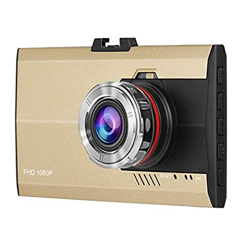 Dash Cam,Dpower HD 1080P Car Dash camera 3.0 Inches TFT LCD Screen Vehicle Blackbox Driving Video Recorder Loop Recording Camera 12 Million Pixels Built-in G-sensor Dashboard Slim Car Camcorder 170° Wide Angle View Car DVR Dash Accident Camera with IR Night Vision Motion Detection and SOS Function(A8