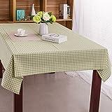 Verde rústico algodón y tela de la ropa de mesa . 140*220cm