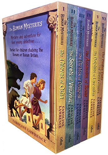 The Roman Mysteries Collection Caroline Lawrence 6 Books Box Set (The Thieves of Ostia, The Secrets of Vesuvius, The Pirates of Pompeii, The Assassins of Rome, The Dolphins of Laurentum, The Twelve Tasks of Flavia Gemini)