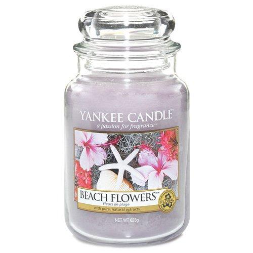 Yankee Candle Duftkerze im Glas Beach Flower, violett, L