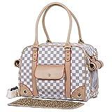 Groß Transporttasche Hundetragetasche Hundetasche Katzentasche Schultertasche Chihuahua Transportbox 35*20*27cm PC09