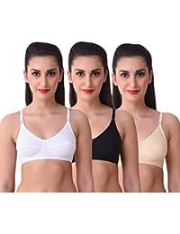 Port Women's Pure Cotton Assorted Coloured Bra