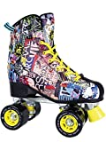 KRF Fashion Art Patins à roulettes Quads, Retro Style Mixte Adulte, Multicolored, 42