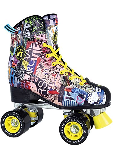 KRF The New Urban Concept Retro Art Patines Paralelo 4 Ruedas, Unisex, Multicolor, 39