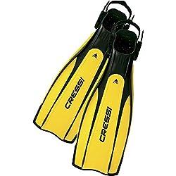 Cressi Pro Light - Aletas, color negro/amarillo, talla S-M