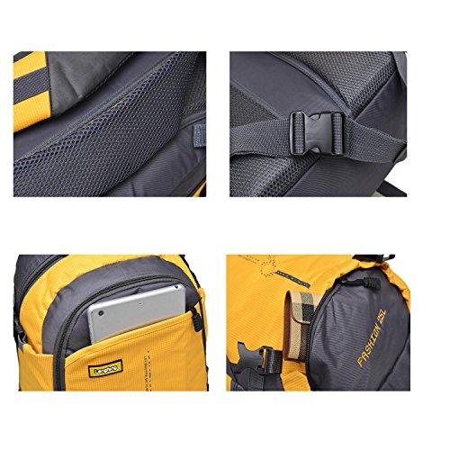 25L Small Bergsteigen Rucksack Outdoor Multifunktion Erholung Portable Pack Klettern Reisen Wandern ritt Tasche leisure Pack für Männer und Frauen 6Colors H48 x W33 x T18 CM Green