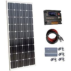Ecoworthy monocristallin 100W 12V Panneaux solaires kit + 20A contrôleur de charge pour batterie de 12volts Hors-réseau Système