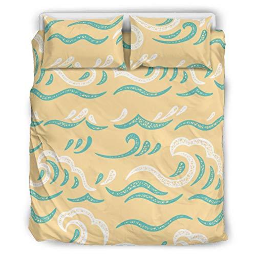 XHJQ88 Bettwäsche-Set, geometrisch, Retro-Stil, 3 Kissen/Bettbezüge, weiches Boho-Bettwäsche-Set, Übergröße, XL, Weiß, 168 x 229 cm